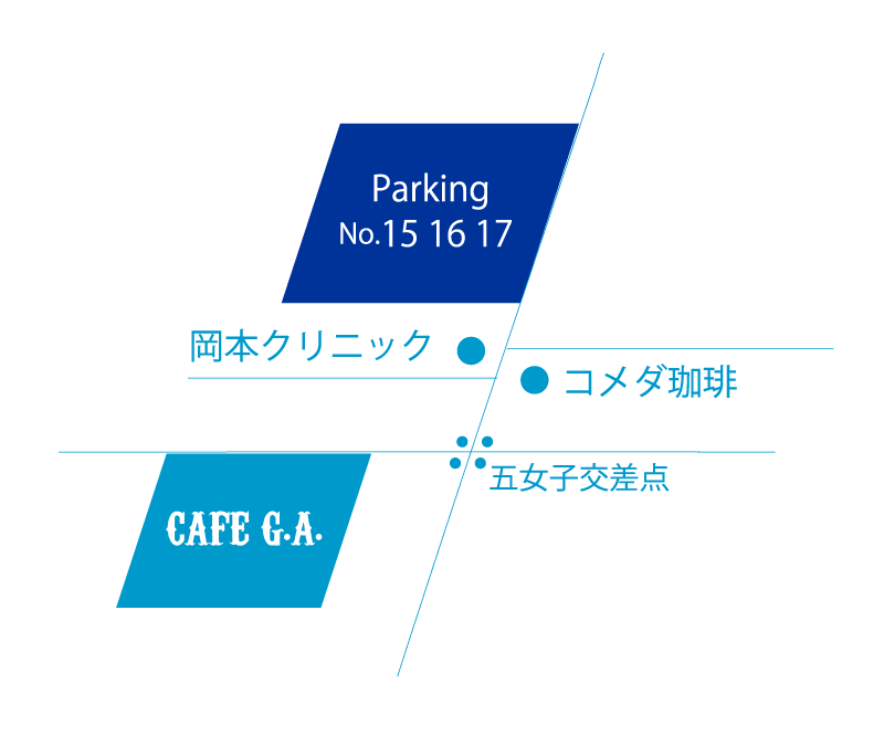 ABOUT CAFE G.A. Parking